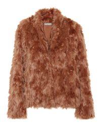 Vince Pink Jacke aus Faux Fur