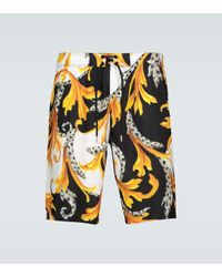 Short de bain à imprimé Versace pour homme en coloris Yellow