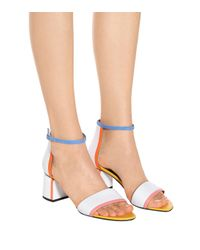 Pierre Hardy White Rally Leather Sandals