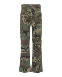 Re/done Green High-rise Cargo Pants