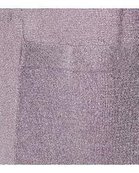 Cardigan in lamé di Missoni in Purple