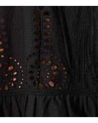 Melissa Odabash Black Kaftan Ashley aus Baumwolle