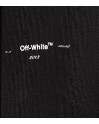 Sweat-shirt en coton à capuche Off-White c/o Virgil Abloh en coloris Black