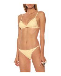 Haut de bikini rayé Asceno en coloris Multicolor