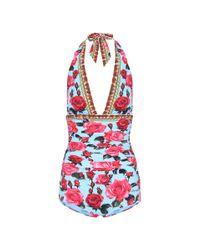 Maillot de bain imprimé Dolce & Gabbana en coloris Red