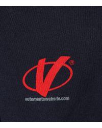 Vetements Blue Hoodie-Kleid aus Baumwolle