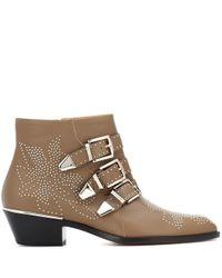 Chloé Brown Ankle Boots Susanna