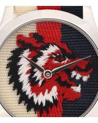 Orologio G-Timeless in acciaio di Gucci in Red