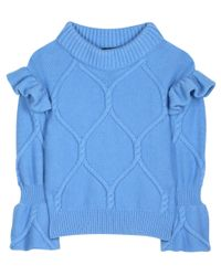 Burberry Blue Wool And Cashmere Sweater