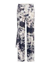 Calvin Klein - Black Gallart Printed Trousers - Lyst