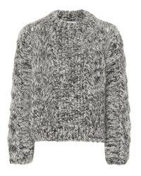 Pullover in lana e mohair di Ganni in Black