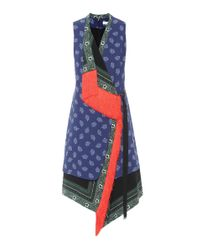 Altuzarra Blue Asymmetrisches Kleid Bina