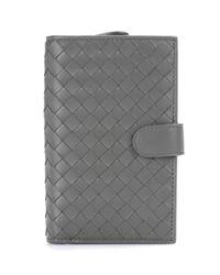 Bottega Veneta - Gray Continental Intrecciato Leather Wallet - Lyst