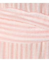 Abito Eugenie a righe in cotone di Lisa Marie Fernandez in Pink