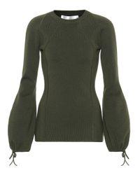 Victoria Beckham Green Pullover aus einem Wollgemisch