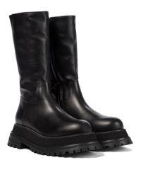 Burberry Black Stiefel aus Leder