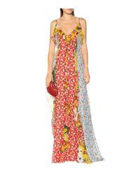 Carolina Herrera Multicolor Bedruckte Robe aus Chiffon