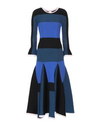 Roksanda - Blue Ribbed Wool-blend Dress - Lyst