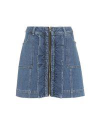 Ganni Blue Compton Denim Skirt