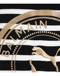PUMA Black X Balmain Hoodie aus Baumwolle