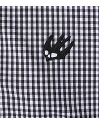 McQ Alexander McQueen Black Gingham Cotton Blouse