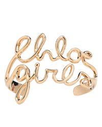 Chloé Metallic Golden Bracelet