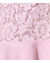 Miniabito in pizzo di Valentino in Pink
