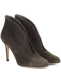 Gianvito Rossi - Green Vamp 85 Suede Pumps - Lyst