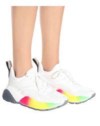 Stella McCartney White 'Eclypse' Sneakers