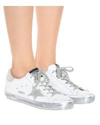 Zapatillas Superstar de cuero Golden Goose Deluxe Brand de color White