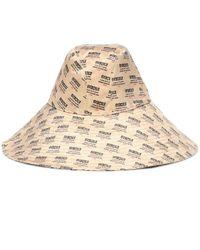 Gucci Natural Bedruckter Hut aus Seide