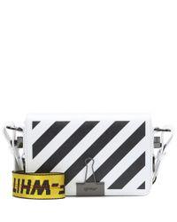 Off-White c/o Virgil Abloh White Mini Binder Clip Leather Shoulder Bag