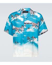 Amiri Kurzarmhemd Aloha aus Seide in Blue für Herren