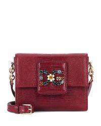 Dolce & Gabbana Red Schultertasche DG Millennials Mini