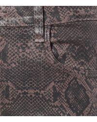 Jeans skinny Lillie de tiro alto J Brand de color Gray