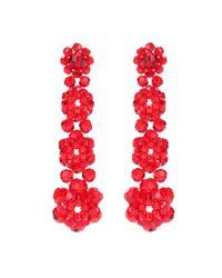 Simone Rocha - Red Crystal Earrings - Lyst