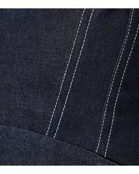 Miniabito di jeans di Mugler in Blue