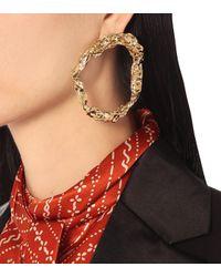 Chloé Metallic Hoop Earrings
