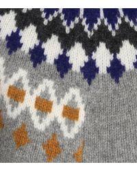 Pull asymétrique en jacquard de laine Joseph en coloris Multicolor