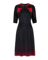 Prada Black Exclusive To Mytheresa. Com – Embellished Midi Dress