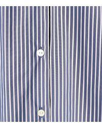 Woolrich Blue Gestreiftes Hemdblusenkleid