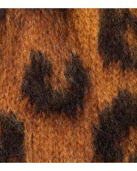 Cardigan en mohair et laine mélangés Miu Miu en coloris Brown