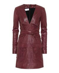 Victoria, Victoria Beckham Red Leather Minidress