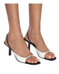 The Row Black Slingback-Sandalen aus Leder