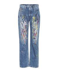 Calvin Klein Blue Bedruckte Jeans