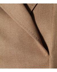 Max Mara Brown Fano Wool Twill Dress