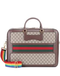 Gucci Brown Coated Canvas Travel Bag
