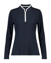 Tory Sport Blue Zip-up Jersey Top