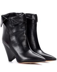 Isabel Marant Black Ankle Boots Luliana aus Leder
