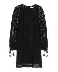 See By Chloé Black Cotton Lace Minidress
